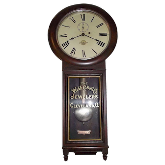 """Ultra Rare """"B. & O. Railroad * Webb C. Ball Co. Jeweler's Regulator""""  in a Seth Thomas No. 1 Model 1884 Rosewood Case with Nickel Plated Hardware Upgrade !!!"""