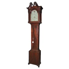 "Signed ""John Heintzelman * Manheim"" Grandfather Clock with Original Lancaster County, Pa. Chippendale Walnut Case Circa 1790 !!!"