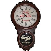 "Rare ""Kansas City Coca-Cola Bottling Company"" 8 Day Time & Strike Advertising Clock in a ""Seth Thomas Office Model"" Case, circa 1910's !!!"