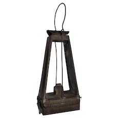 """Ultra Rare """"Archer, Pancoast & Co. * Excelsior Hand Lantern"""" Patent Dated 1863 with Original Glass & marked Flat Wick Convex Burner !!!"""