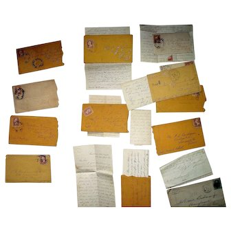 """Group of Civil War Letters from """"A. Thomas  Buchanan""""  of the 122nd Regiment Pennsylvania Volunteers !"""