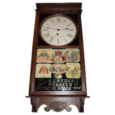 "Awesome ""National Tobacco Company"" Gold Foil & Sampler of Cigar Store Advertising Clock Circa 1920's !!!"