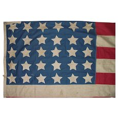 "US. 30 Star Civil War Period ""Union Loyalist"" Flag !!!"