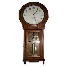 "Rare ""Webb C. Ball * Baltimore & Ohio Railroad"" Clock in a Seth Thomas # 3 Jeweler's Regulator with a Fabulous Oak Case !!! Circa 1884 to 1890."