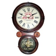 "RARE  ""Keystone Coca' Cola Bottling Co. Inc."" Advertising Clock with plant located in Wilkes-Barre, Pa. !!!"