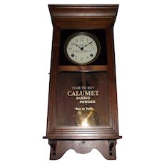 "Half Size Regulator ""Calumet Baking Powder"" Store Advertising  Clock Circa 1940 !"