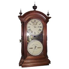 """Fashion Model No. 4"" Calendar Clock marked ""Southern Calendar Clock Co."" in a Solid Walnut Case  Circa 1870's !!!"
