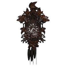 """Quail"" Model Cuckoo Clock from Germany Circa 1890's !!!"