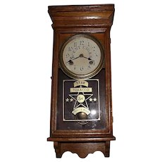 "Salesman Sample Size ""Star Tobacco"" Store Advertising Clock Circa 1925 !"