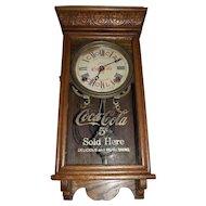 "Salesman Sample Size ""Coca Cola"" Store Time & Hourly Strike Advertising Clock Circa 1930 !"