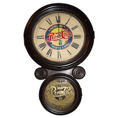 "Rare ""PEPSI-COLA"" Advertising Clock in an E. Ingraham Figure 8 Model Case,"