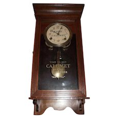 """Calumet Baking Powder"" Half Size Store Regulator Advertising Clock  !"