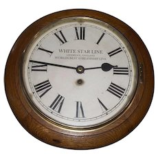 "Official ""White Star Line"" Advertising Gallery Clock Circa 1910 to 1940 !!!"