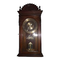 Early Programmable Master Clock, with Mechanical Movement & Solid Oak Eastlake Case !!!