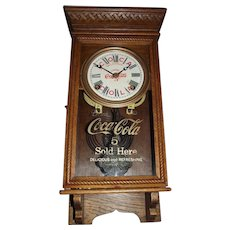 "Salesman Sample Size ""Coca Cola"" Store Advertising Clock Circa 1920's !"