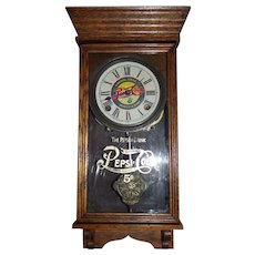 "RARE Miniature Size ""Pepsi-Cola"" Store Advertising Clock Circa 1920's !"