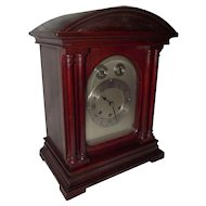 Gustav Becker Red Mahogany Mantle Clock with Westminster Chimes !