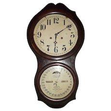 Ithaca Office Calendar No. 4 Model Clock with 30 Day Movement Circa 1880 !!!