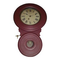 """Very Rare """"Miniature BAIRD Non-Advertising"""" Model Wall Clock, only 26 inches Long, made between 1890 to 1896 !!!"""