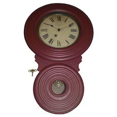 "Very Rare ""Miniature BAIRD Non-Advertising"" Model Wall Clock, only 26 inches Long, made between 1890 to 1896 !!!"