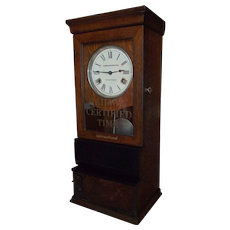 """Baltimore & Ohio Railroad"" Employee Time Punch-Card Clock Circa 1910 to 1919 !!!"