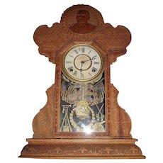 "Rare Post Civil War Confederate ""General Lee"" Shelf Clock was Spanish-American War Period produced in 1898 !"