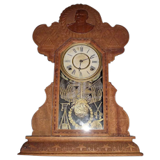 "Rare Post Civil War Confederate ""General Lee"" Shelf Clock was Spanish-American War Period produced in 1898 !"