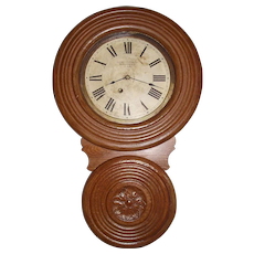 "Book Example of  BAIRD ""Miniature Non-Advertising"" Model Wall Clock, only 26 inches Long, made between 1890 to 1896 !!!"