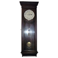 "Solid Mahogany LONG Wall Regulator ""Stanton"" Model made by the ""New Haven Clock Co."" circa 1911 !!!"