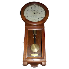 """""""Pennsylvania Railroad"""" Seth Thomas No. 2 Regulator in a Fine Solid Oak Case with an Early 3 Piece bottom Dated 1906 !!!"""