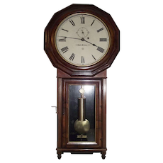 """Seth Thomas Regulator """"No. 3"""" Regulator with  a Rosewood Burl Front & Solid Rosewood Sides Circa 1865 to 1880's !"""