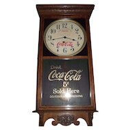 """Combination """"Coca Cola & Woolworth"""" Store Advertising Clock marked on the Dial with a 5 Cent Priced Glass Tablet Circa 1920-1930's !!!"""