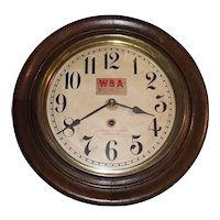 """""""Western & Atlantic Railroad *Chattanooga Tennessee"""" Time-Only Gallery Clock circa 1909 !!!"""
