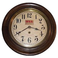 "{One of Two}  ""Western & Atlantic Railroad *Chattanooga Tennessee"" Time-Only Gallery Clock circa 1920's !!!"