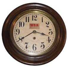"""Western & Atlantic Railroad *Chattanooga Tennessee"" Time-Only Gallery Clock circa 1909 !!!"