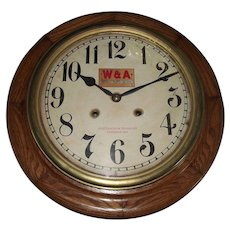 """Western & Atlantic Railroad * Chattanooga Tennessee"" Time & Hourly Chiming Gallery Clock circa 1909 !!!"