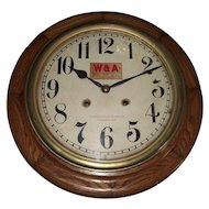 "{One of Two}  ""Western & Atlantic Railroad *Chattanooga Tennessee"" Time & Hourly Chiming Gallery Clock circa 1909 !!!"