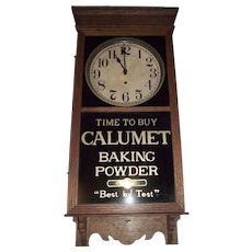 """Calumet Baking Powder"" Store Advertising Regulator Clock made by ""Sessions Clock Co."" circa 1930 !"