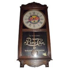"""Pepsi-Cola"" Advertising Store Regulator made by waterbury Clock Co. circa 1935  !!!"