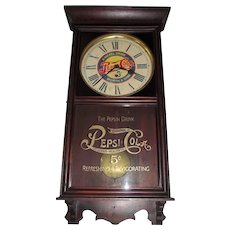 """Pepsi-Cola"" Advertising Store Regulator made by Wm. Gilbert Clock Co. circa 1935 !!!"