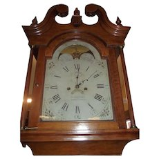 """Signed """"Eli Bentley * TANYTOWN"""" Md. Federal Period Tiger Cherry Tall Case Clock made Circa 1800 to 1820 !!!"""