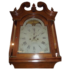 "Signed ""Eli Bentley * TANYTOWN"" Md. Federal Period Tiger Cherry Tall Case Clock made Circa 1800 to 1820 !!!"