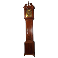 "Pre Revolutionary War Brass Dial Signed ""William Huston * Philadelphia"" Early Pennsylvania Chippendale Walnut Tall Case Clock circa 1754 to 1771 !!!"