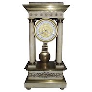 "Empire Period Gilt Brass Mounted ""Portico"" Mantle Clock !"