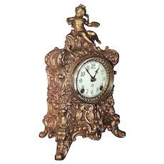 """Fabulously Detailed American Ansonia """"Crest"""" Model Clock with completely Rebuilt Original 8 Day Time & Strike Movement ! Circa 1914."""