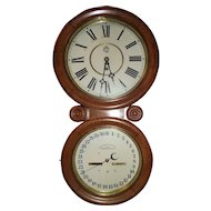 "Very Fine Condition Waterbury Perpetual ""Calendar No. 34"" Model in an Oak Case, Circa 1893 !!!"