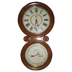 "Very Fine Condition Waterbury Perpetual ""Calendar No. 34"" Model in an Oak Case, Circa 1893 !!!"