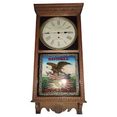"RARE ""National Tobacco Company"" Advertising Store ""Regulator"" Model made by the Sessions Clock Co. !!!"