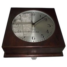 "Industrial - Commercial - Institutional ""POOLE * Trade Mark * Electric"" marked Battery Wall Clock made in Ithaca, NY. !"