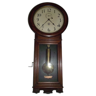"""""""Erie Railroad"""" Seth Thomas No. 2 Regulator in a Fine Solid Walnut Case with an Early 3 Piece bottom Dated 1890 !!!"""